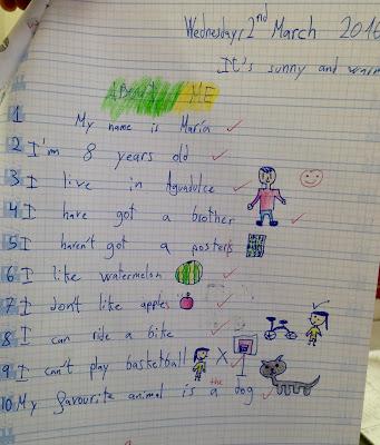 Creatividad de nuestros alumnos.