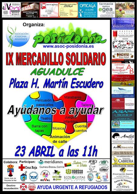 Colaboramos con el Mercadillo Solidario de Posidonia.